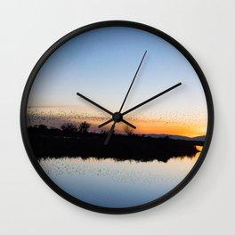 Starling Sunset Wall Clock