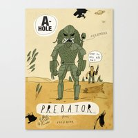 predator Canvas Prints featuring Predator by Patrick Latimer