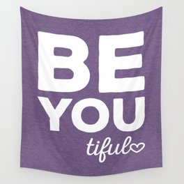 Be-You-Tiful Positive Quote Wall Tapestry