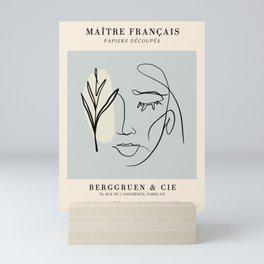 Exibition poster-Maître français-1953. Mini Art Print