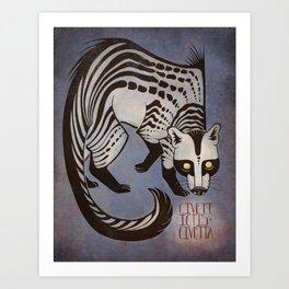 The African Civet (Civettictis civetta) Art Print