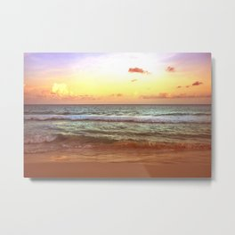 beacH Sunrise Sunset Metal Print