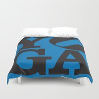 yoga Duvet Covers featuring YoGA by CGould