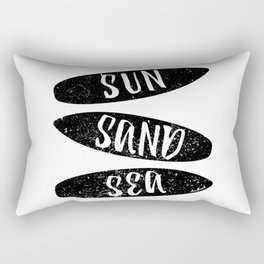 Sun, Sand and Sea Rectangular Pillow