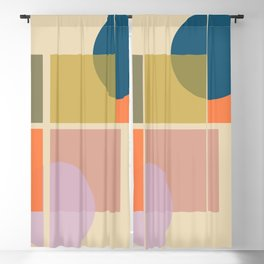 Modern geometric shapes Blackout Curtain