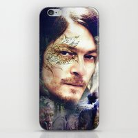 daryl dixon iPhone & iPod Skins featuring Daryl Dixon by András Récze