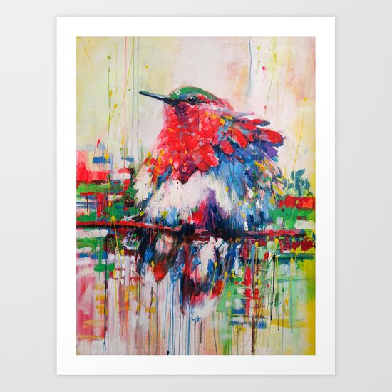 colorful bird- nature  Art Print