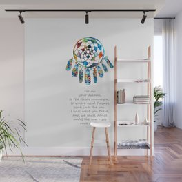Follow Your Dreams - Colorful Native American Art - By Sharon Cummings Wall Mural