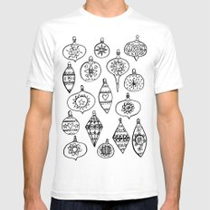 Retro Christmas Ornaments SMALL White Mens Fitted Tee