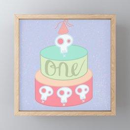 First birthday Framed Mini Art Print