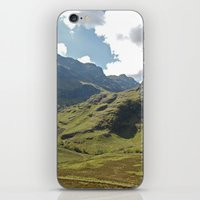 scotland iPhone & iPod Skins featuring Scotland Hills by Shelly Navarre