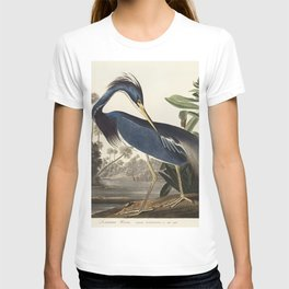Louisiana Heron from Birds of America (1827) by John James Audubon, etched by William Home Lizars T-shirt