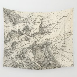 Vintage Map of Boston Harbor (1903) Wall Tapestry