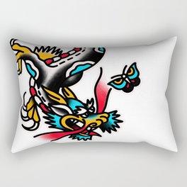 American traditional dragon Rectangular Pillow