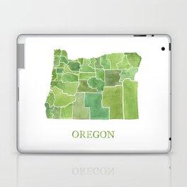 Oregon Counties watercolor map Laptop & iPad Skin