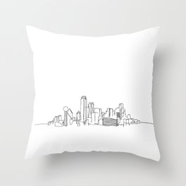 Dallas Skyline Drawing Throw Pillow