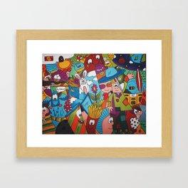 Jumble Mumble Framed Art Print