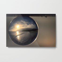 Capturing Avila Beach refraction photography crystal ball Metal Print