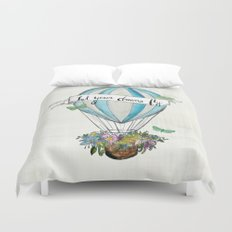 Let your dreams fly hot air balloon Duvet Cover