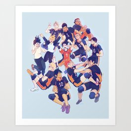 karasuno  Art Print