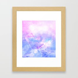 Lavander pink galaxy Framed Art Print