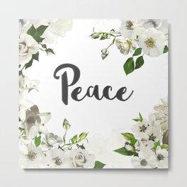 FLORAL DESIGN PEACE Metal Print