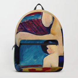 Sitting Nude With Pillow - Digital Remastered Edition Backpack