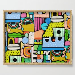 Color Block Collage Serving Tray