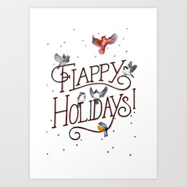 Flappy Holidays! Art Print