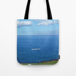 Running with the Outrigger  Tote Bag