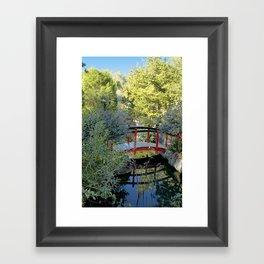 Red Bridge Framed Art Print
