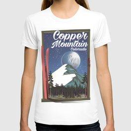 Colorado travel poster Copper Mountain T-shirt