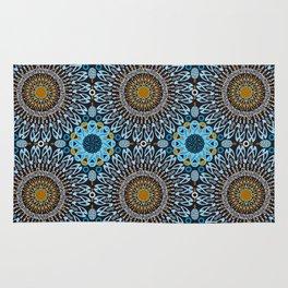 Calligraphic Boho (Blue) Rug