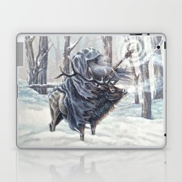 Wizard Riding an Elk in the Snow Laptop & iPad Skin