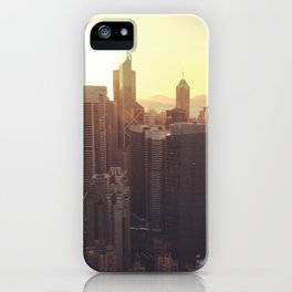 hong kong sundown iPhone Case