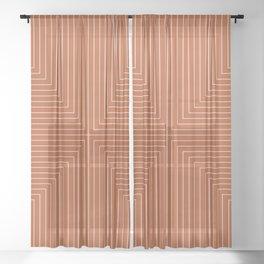 Angular Lines XI Sheer Curtain