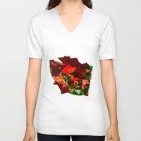 polygon V-neck T-shirts featuring polygon chaos by Matthias Hennig
