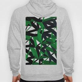 3D Futuristic Geometric Background (Green) Hoody