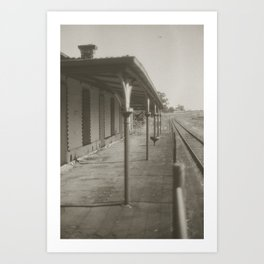 Clunes Station Art Print