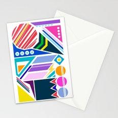 Geo Splash Stationery Cards