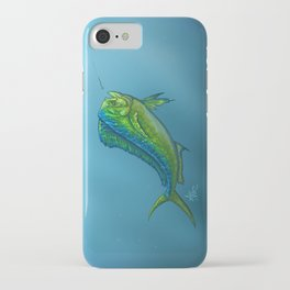 """El Dorado"" by Amber Marine ~ Mahi Mahi / Dolphin Fish Art, (Copyright 2015) iPhone Case"