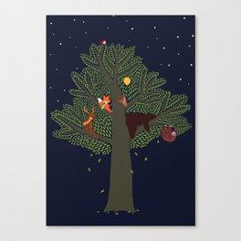 Forest Animals Friendship Day Canvas Print