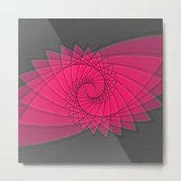 hypnotized - fluid geomatrical eye shape Metal Print