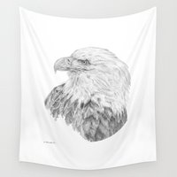 eagle Wall Tapestries featuring Eagle by Ora Kolmanovsky