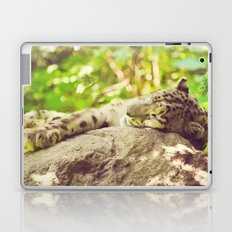 Sleepy Snow Leopard  Laptop & iPad Skin