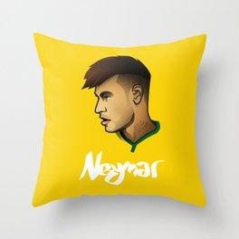 Neymar Brazil Throw Pillow