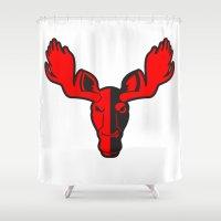 moose Shower Curtains featuring Moose by Jhonatan Medina