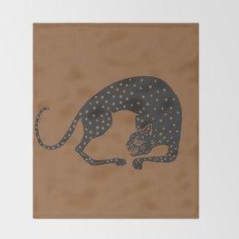 Blockprint Cheetah Throw Blanket