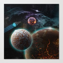 Deep Space Flare Canvas Print