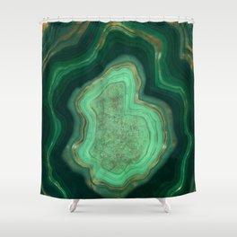 Malachite Texture 06 Shower Curtain